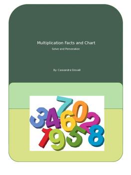 Math Facts 0-9 Packet/ Multiplication Chart