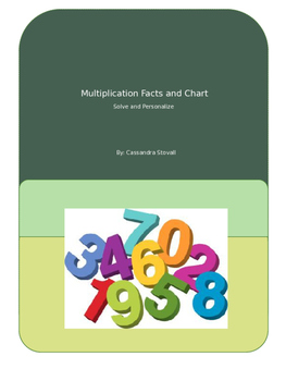 Math Facts 0-9 Packet/ Multiplication Chart