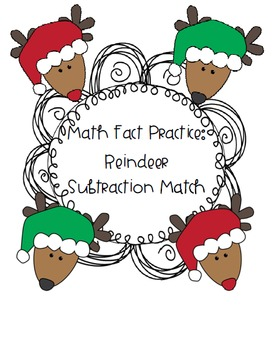 Math Facts 1-5: Reindeer Subtraction