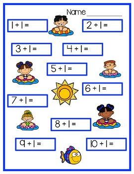Math Facts +1 Worksheets