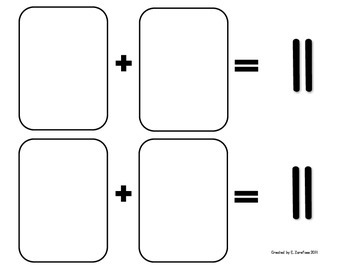 Math Facts 11-18 Addition: Playing Cards #1