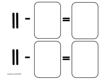 Math Facts 11-18 Subtraction: Playing Cards #1