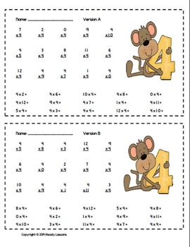 Math Worksheets for Math Facts Practice (Add, Subtract, Multiply, Divide)