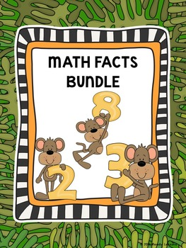 Math Worksheets for Math Fact Fluency Practice (Add, Subtract, Multiply, Divide)