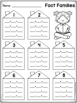 Fact Families Addition and Subtraction Activity