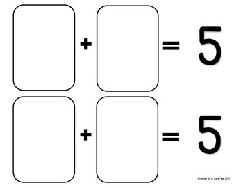 Math Facts 4-10 Addition: Playing Cards #1