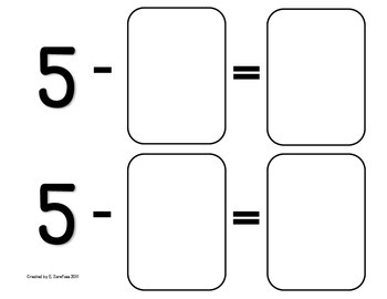 Math Facts 4-10 Subtraction: Playing Cards #1
