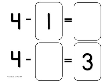 Math Facts 4-10 Subtraction: Playing Cards #2