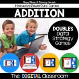 Math Facts Addition Strategy PowerPoint Game Super Hero Theme {DOUBLES}