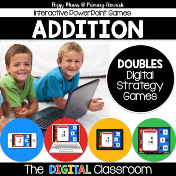 Math Facts Addition Strategy PowerPoint Game Super Hero Th