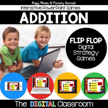 Math Facts Addition Strategy PowerPoint Game Super Hero Theme {Flip/Flop}