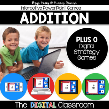 Math Facts Addition Strategy PowerPoint Game Super Hero Theme {Plus 0}