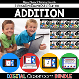 Math Facts Addition Strategy PowerPoint Games {Bundle}