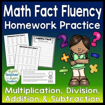 Math Facts Bundle - Addition, Subtraction, Multiplication, Division, Skip Count