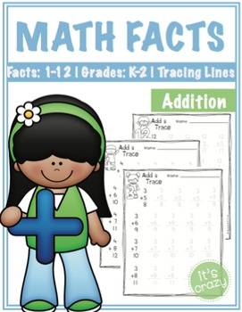 Math Facts-Addition-Tracing Lines