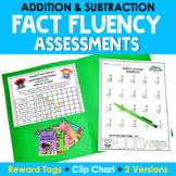 Math Facts Fluency Addition Assessment and Subtraction Assessment