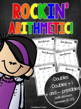 Doubles and Doubles Plus One Math Fact Fluency