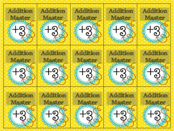 Math Facts Addition and Subtraction Victory Cards (Brag Tags)