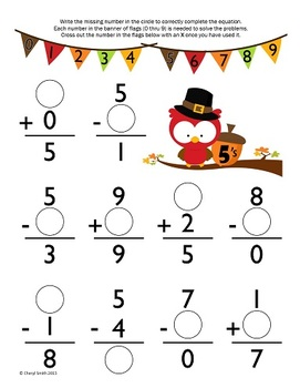 Math Facts: Autumn Edition (Addition and Subtraction)