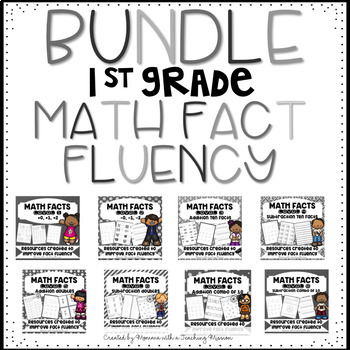 Math Facts BUNDLE Fact Fluency Addition and Subtraction facts