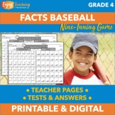 Math Facts Baseball Game - Addition, Subtraction, Multipli