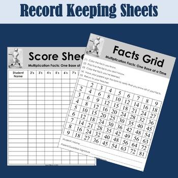 Math Facts Baseball and Coaching Kit Bundle
