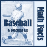 Math Facts Baseball and Coaching Kit Bundle