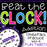 Addition Math Fact Game - Beat the Clock: A Fun Twist on Timed Tests