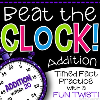 Addition Math Fact Game - A Fun Twist on Timed Tests