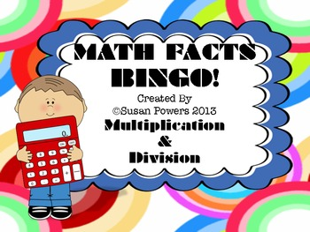 Math Facts Bingo Centers Activity
