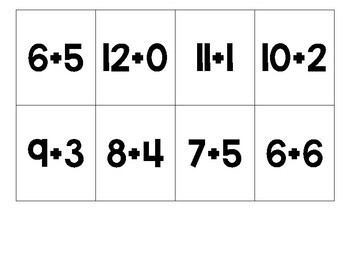 Math Facts Board Game