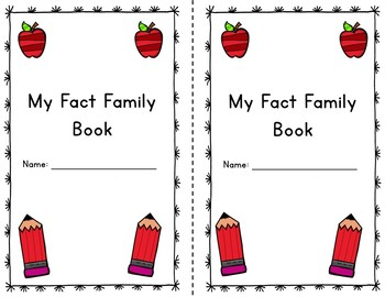My Fact Family Book