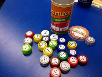 Math Facts Bottle Caps