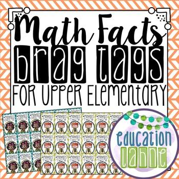 Math Facts Brag Tags