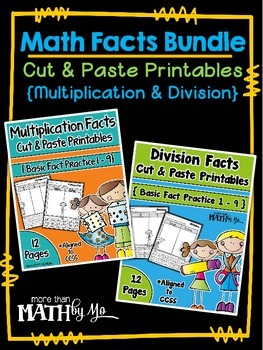 Math Facts Bundle: Cut and Paste Printables {Multiplication and Division}