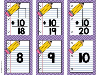 Math Facts Cards - Add & Subtract 10