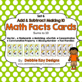 Math Facts Cards - Add & Subtract Making 10