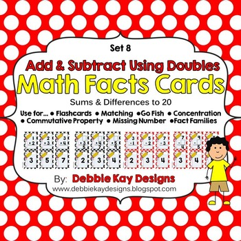 Math Facts Cards - Add & Subtract Using Doubles
