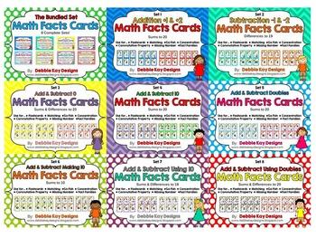 Math Facts Cards - Bundled 8-Set Pack