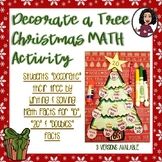 Math Facts Christmas Activity-Decorate a Tree