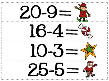 Math Facts Christmas Countdown