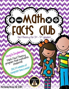 Math Facts Club (motivational fact fluency system)