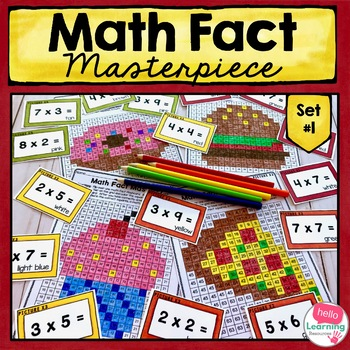 Math Facts Color by Number Multiplication Set 1