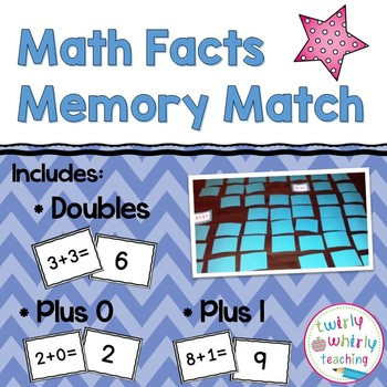 Math Facts Memory Match Game