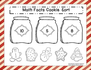 Math Facts Cookie Sort