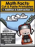 Math Facts: Cut & Paste Printables - Addition & Subtractio