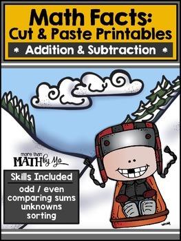 Math Facts: Cut & Paste Printables - Addition & Subtractio