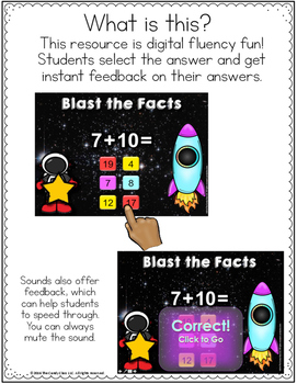 Math Facts Fluency Practice for PowerPoint Use - Addition and Subtraction Facts