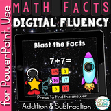 Math Facts Fluency Practice for PowerPoint Use - Addition
