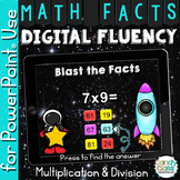 Math Fluency Paperless Practice - 38 Decks for Multiplication and Division Facts